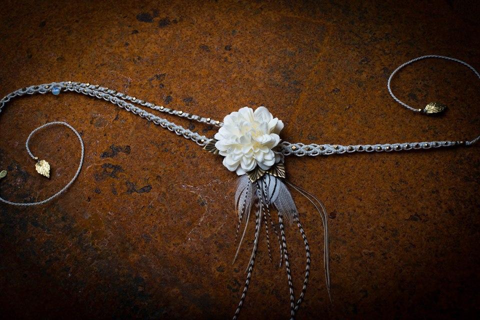 Kopfschmuck, Kopfband, Hochzeitsschmuck, Federschmuck
