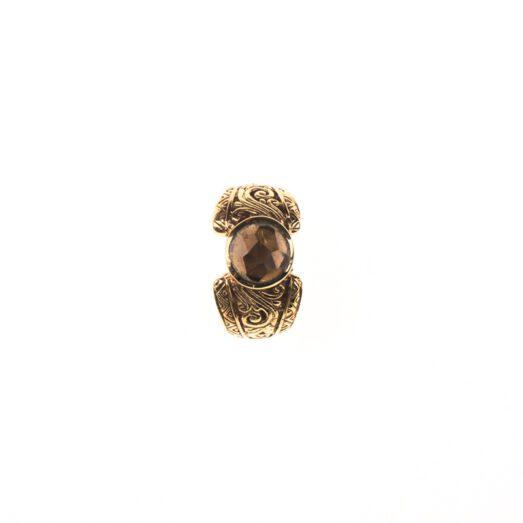 Ring, Messing Ring, Steinring, Steinschmuck, Tribal Ring